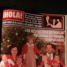 Coleccionismo de Revista Hola: MICHAEL JACKSON JORDAN-ISABEL PREYSLER-DUQUESA DE ALBA-ROCIO JURADO-CATHERINE FULOP-GLORIA ESTEFAN. Lote 122035603