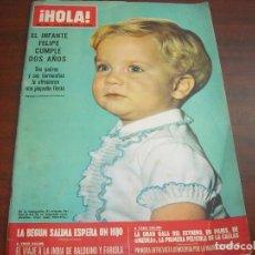 Coleccionismo de Revista Hola: HOLA AÑO 1970- Nº 1329-INFANTE FELIPE CUMPLE 6 AÑOS-MISS SELLERS-VIAJE OFICIAL PRINCIPES A BARCELONA. Lote 122111579