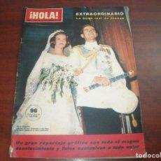 Coleccionismo de Revista Hola: HOLA AÑO 1964- Nº 1048- EXTRAORDINARIO BODA ATENAS CONSTANTINO Y ANA MARIA GRECIA. Lote 122131187
