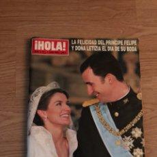 Coleccionismo de Revista Hola: HOLA : LA FELICIDAD DEL PRINCIPE Y DOÑA LETICIA EL DIA DE SU BODA. Lote 122930087