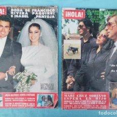 Coleccionismo de Revista Hola: LAS DOS REVISTAS DE PAQUIRRI, SU BODA Y SU MUERTE.. Lote 124149747