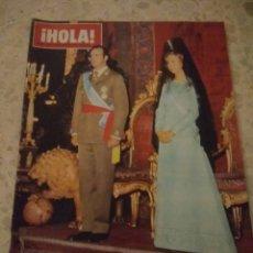 Coleccionismo de Revista Hola: REVISTA HOLA DICIEMBRE 1975 HOMENAJE A LOS REYES DE ESPAÑA.BUEN ESTADO. Lote 124988240
