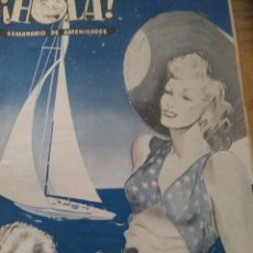 Coleccionismo de Revista Hola: ¡HOLA!- SEMANARIO GRÁFICO CONJUNTO DE LOS PRIMEROS NUMEROS DE LA REVISTA HOLA - AÑO 1944. Lote 125674351