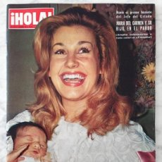 Coleccionismo de Revista Hola: HOLA - 1972 - M. DEL CARMEN MARTÍNEZ-BORDIÚ, EDITH IRVING, FRANCO, LITTLE TONY, MIA FARROW, FABIOLA. Lote 55244121