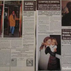 Coleccionismo de Revista Hola: RECORTE HOLA Nº 2730 1996 KARINA. Lote 126266667