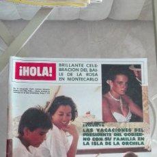 Coleccionismo de Revista Hola: REVISTA HOLA 1984 PUBLI ZUMLEY RAFI ESCOBEDO BAILE DE LA ROSA CARL LEWIS MICHAEL JACKSON ROCIO JURAD. Lote 126273783