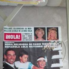 Coleccionismo de Revista Hola: REVISTA HOLA 1984 LOLA NAVARRO TAHNEE WELCH CAMILO SESTO LOLA FLORES SUPERGIRL ANUNCIO PELICULA. Lote 126277035