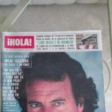 Coleccionismo de Revista Hola: REVISTA HOLA 1982 GIANNINA FACIO JULIO IGLESIAS CHARO LLARENA MARI CRUZ SORIANO PUBLI PETETE. Lote 126277939