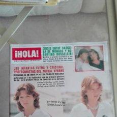 Coleccionismo de Revista Hola: REVISTA HOLA 1983 DIRK BENEDICT CORSA TR ALMUDENA DOMECQ JULIO IGLESIAS YATE. Lote 126279587