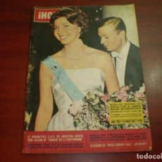 Coleccionismo de Revista Hola: HOLA AÑO 1964- Nº 1033- BODA DESIREE SUECIA- BODA MORITZ VON HESSEN- MISS EUROPA. Lote 126794339