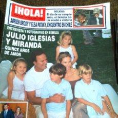 Coleccionismo de Revista Hola: REVISTA HOLA -- Nº 3234 - JULIO 2006 -- JULIO IGLESIAS Y MIRANDA --. Lote 127853859
