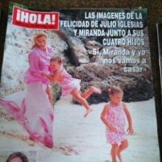 Coleccionismo de Revista Hola: REVISTA HOLA -- Nº 3125 - JUNIO 2004 -- JULIO IGLESIAS Y MIRANDA -- . Lote 127854163