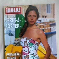 Coleccionismo de Revista Hola: REVISTA HOLA.NÚMERO EXTRAORDINARIO - PRÊT - À - PORTER PRIMAVERA / VERANO 2002. Lote 127979463