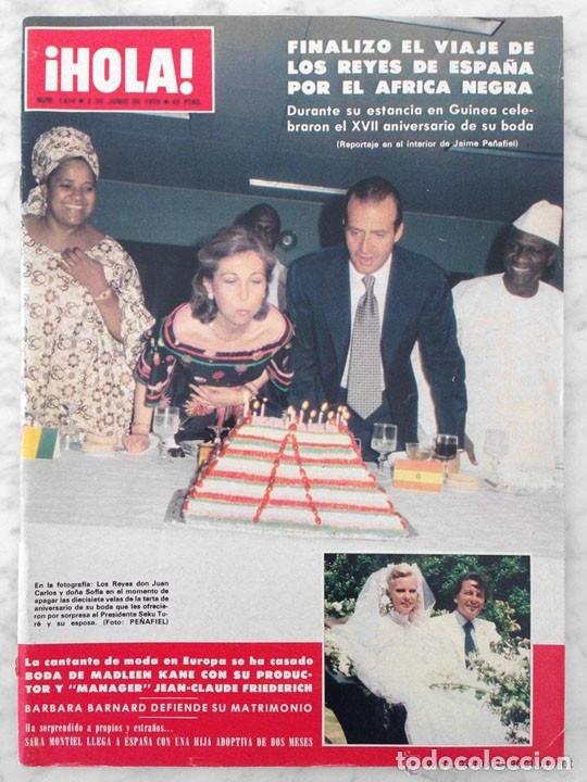 HOLA - 1979 - CATHY LEE CROSBY, JON VOIGHT, SARA MONTIEL, JOHN TRAVOLTA, CAROLINA, FARRAH FAWCETT (Coleccionismo - Revistas y Periódicos Modernos (a partir de 1.940) - Revista Hola)