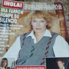 Coleccionismo de Revista Hola: REVISTA HOLA.-MIA FARROW ROMPE SU SILENCIO. Lote 128300728