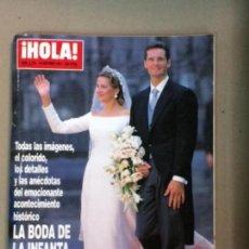Coleccionismo de Revista Hola: HOLA, N. 2.775 BODA INFANTA CRISTINA . Lote 128599555