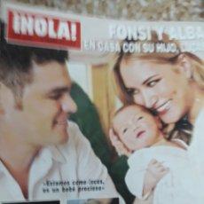 Coleccionismo de Revista Hola: REVISTA 11/2011 FONSI Y ALBA CON SU HIJO RPTJE. LOS TERRY, LA DUQUESA DE CAMBRIDGE,DOÑA SOFIA. Lote 129022428