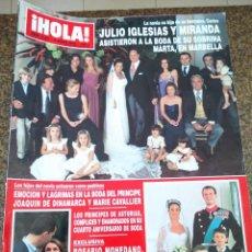 Coleccionismo de Revista Hola: REVISTA HOLA - Nº 3331 - JUNIO 2008 -- JULIO IGLESIAS Y MIRANDA -- . Lote 129105363