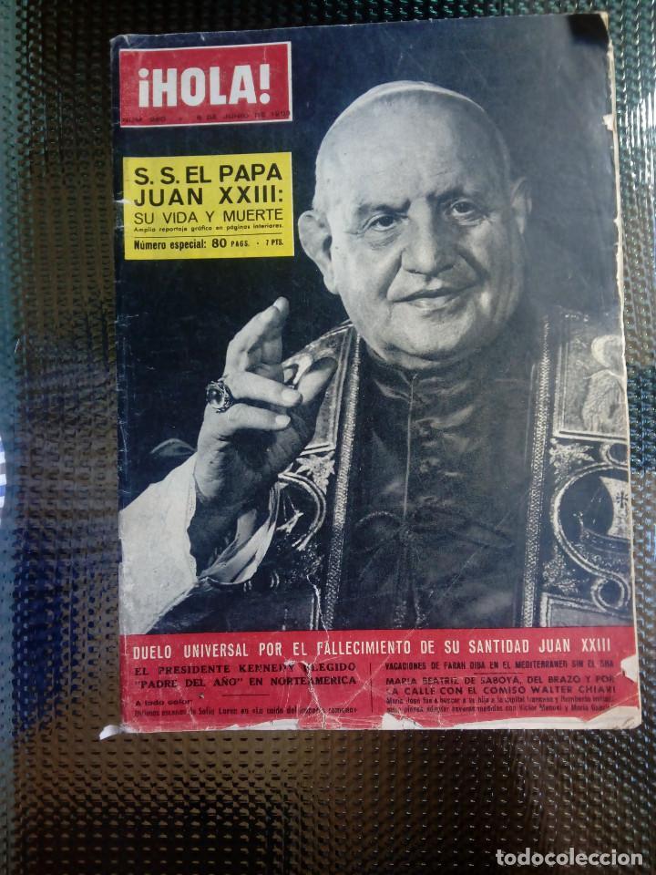 REVISTA HOLA Nº 980 - JUNIO DE 1963 (Coleccionismo - Revistas y Periódicos Modernos (a partir de 1.940) - Revista Hola)