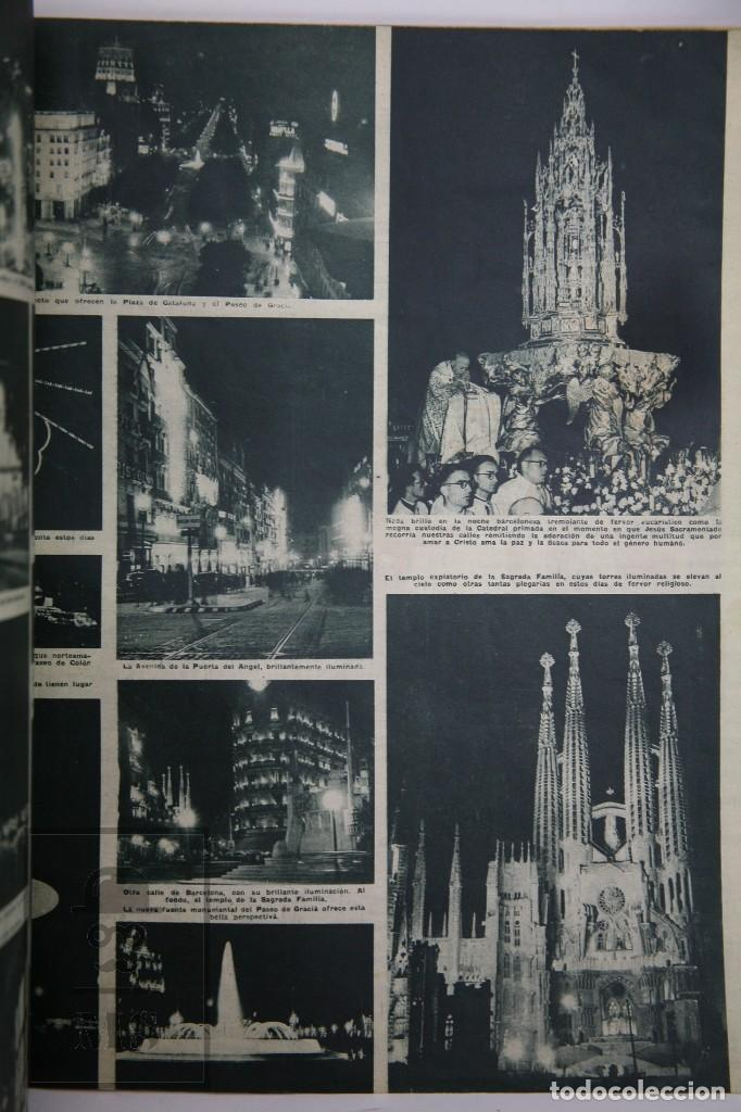 Coleccionismo de Revista Hola: 7 Publicaciones PAX y 1 ¡Hola! sobre el XXXV Congreso Eucarístico Internacional Barcelona, Año 1952 - Foto 3 - 129966427