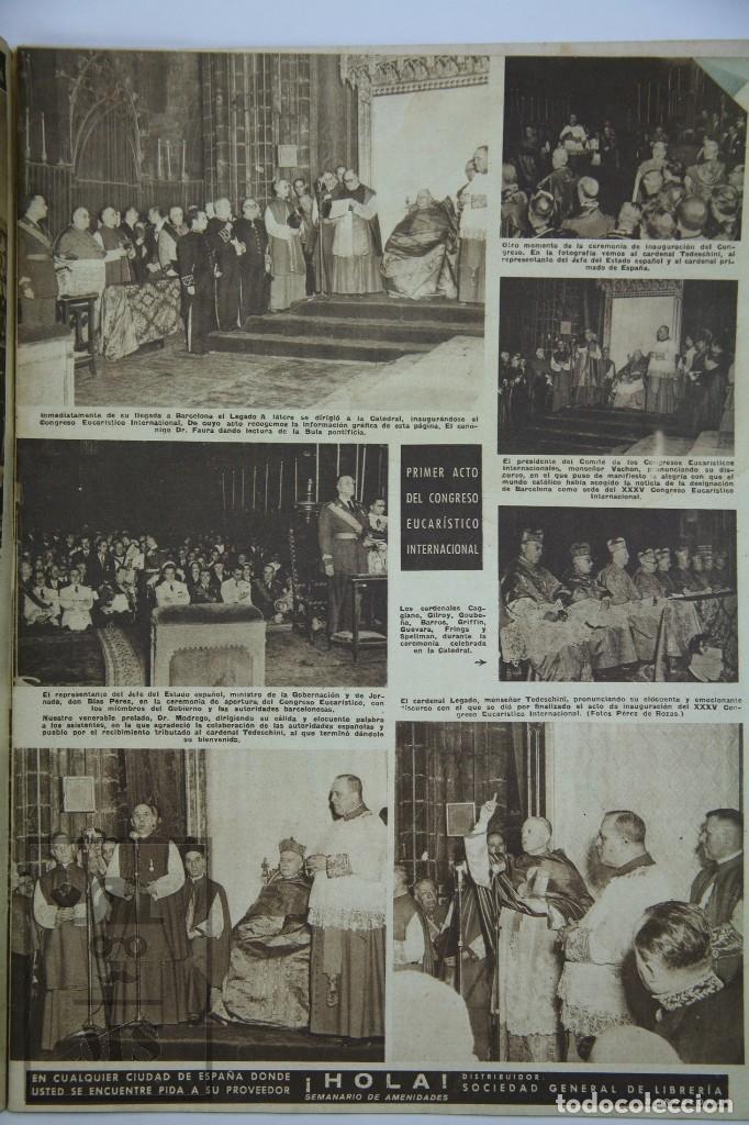 Coleccionismo de Revista Hola: 7 Publicaciones PAX y 1 ¡Hola! sobre el XXXV Congreso Eucarístico Internacional Barcelona, Año 1952 - Foto 5 - 129966427