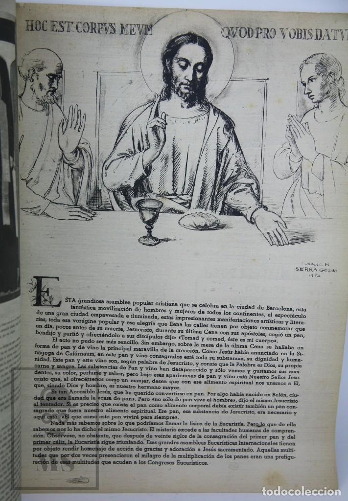 Coleccionismo de Revista Hola: 7 Publicaciones PAX y 1 ¡Hola! sobre el XXXV Congreso Eucarístico Internacional Barcelona, Año 1952 - Foto 11 - 129966427