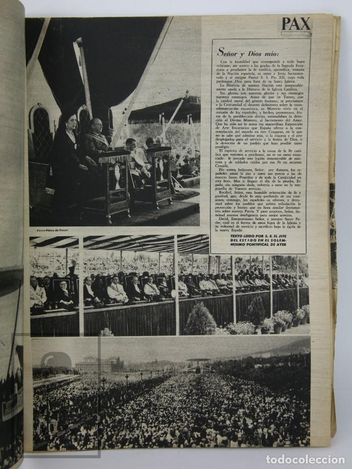 Coleccionismo de Revista Hola: 7 Publicaciones PAX y 1 ¡Hola! sobre el XXXV Congreso Eucarístico Internacional Barcelona, Año 1952 - Foto 13 - 129966427