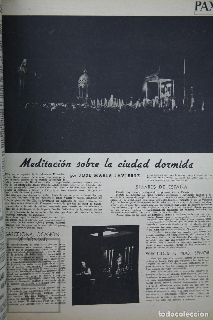 Coleccionismo de Revista Hola: 7 Publicaciones PAX y 1 ¡Hola! sobre el XXXV Congreso Eucarístico Internacional Barcelona, Año 1952 - Foto 16 - 129966427