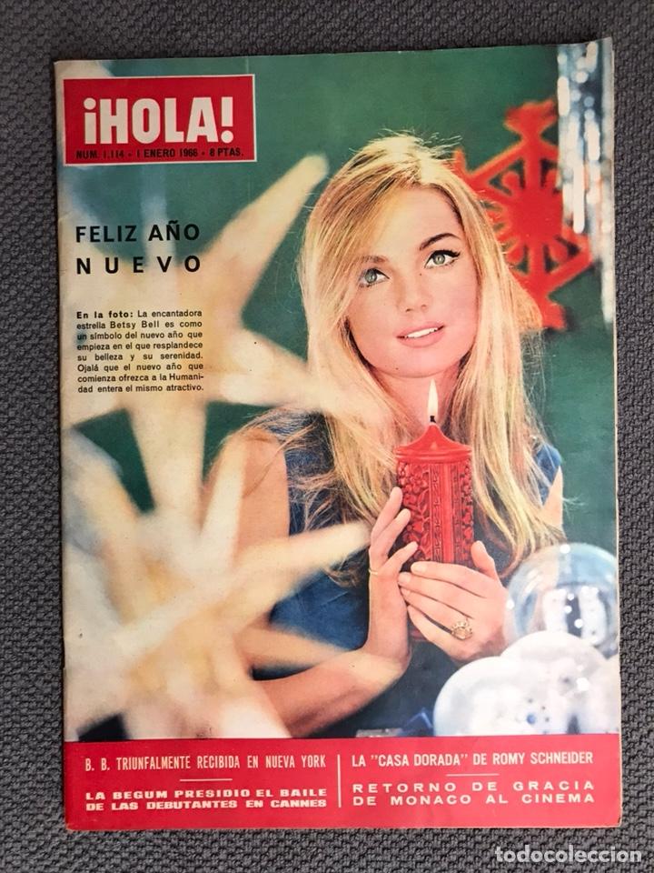 HOLA. REVISTA ESPAÑOLA NO.1114 (1 DE ENERO 1966). REVISTA DE SOCIEDAD (Coleccionismo - Revistas y Periódicos Modernos (a partir de 1.940) - Revista Hola)
