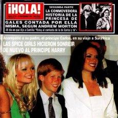 Coleccionismo de Revista Hola: REVISTA HOLA Nº 2779 AÑO 1997. SPICE GIRLS Y HARRY. GUILLERMO FURIASE. CARMEN MORALES. DUQUESA YORK.. Lote 133910037