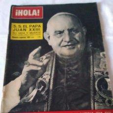 Coleccionismo de Revista Hola: 9-REVISTA HOLA, VIDA Y MUERTE DE SU SANTIDAD EL PAPA JUAN XXIII, Nº 980, 1963. Lote 130610106