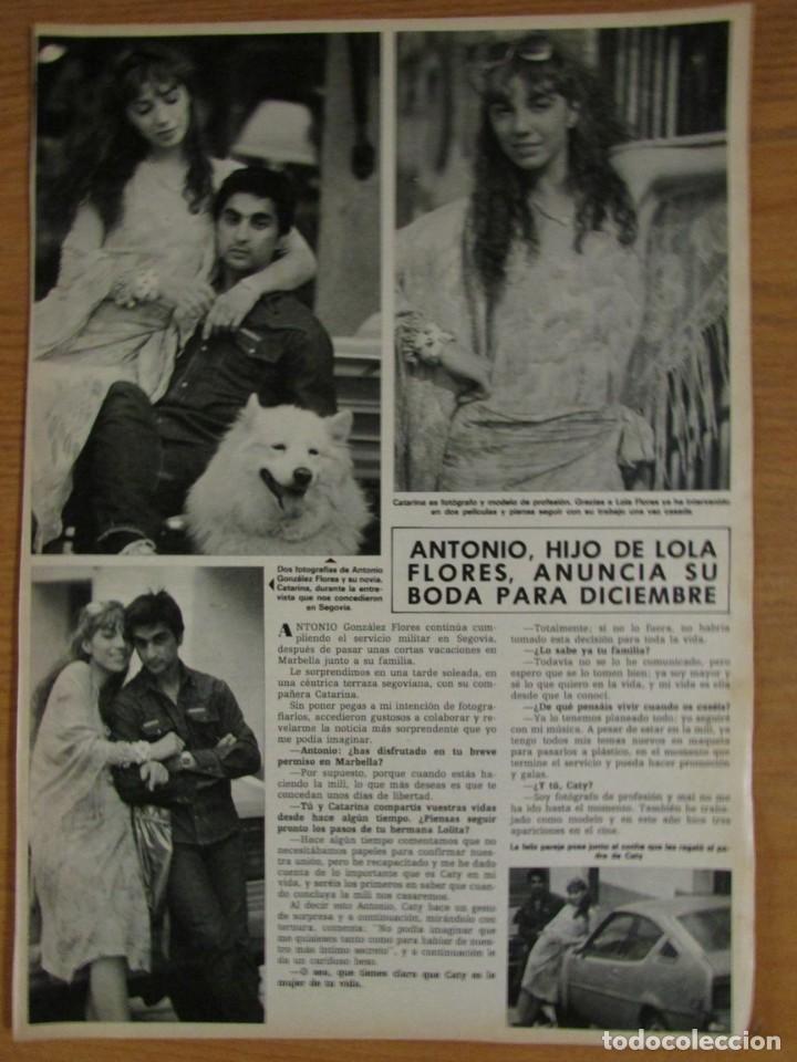 RECORTE HOLA 2041 1983 ANTONIO FLORES (Coleccionismo - Revistas y Periódicos Modernos (a partir de 1.940) - Revista Hola)