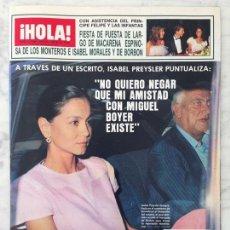Coleccionismo de Revista Hola: HOLA - 1985 - ISABEL PREYSLER, SYLVESTER STALLONE, ESTEFANIA, RAPHAEL, CHABELI, MISS UNIVERSO. Lote 52541340