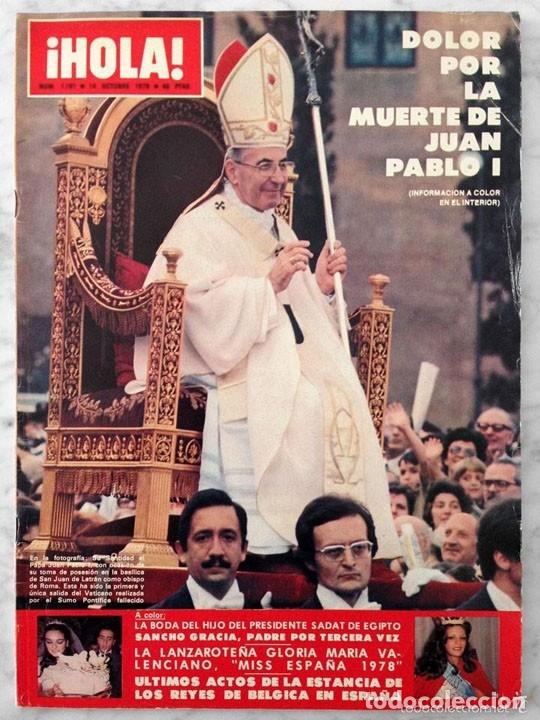 HOLA - 1978 - MUERTE DE JUAN PABLO I, MISS ESPAÑA, INGER NILSSON, RICHARD JORDAN, SHELLEY WINTERS (Coleccionismo - Revistas y Periódicos Modernos (a partir de 1.940) - Revista Hola)
