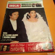 Coleccionismo de Revista Hola: REVISTA HOLA, BODA DE PALOMO LINARES Y MARINA DANKO, N° 1706 , MAYO DE 1977. Lote 133562402