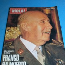 Coleccionismo de Revista Hola: HOLA, MONOGRÁFICO SOBRE EL CAUDILLO FRANCO Y EL PRINCIPE/REY JUAN CARLOS 1,EDPECIAL HOLA. Lote 133750409