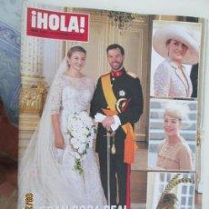 Coleccionismo de Revista Hola: REVISTA HOLA Nº 3561 AÑO 2012 - BODA REAL PRINCIPES DE LUXEMBURGO.. Lote 182628927