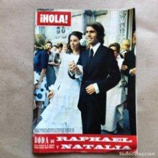 Coleccionismo de Revista Hola: REVISTA ¡HOLA! N°1458, DEL AÑO 1972. BODA DE RAPHAEL Y NATALIA FIGUEROA.. Lote 135121334