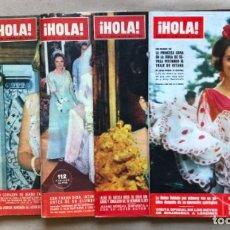 Coleccionismo de Revista Hola: LOTE DE 5 REVISTAS ¡HOLA! DE LOS AÑOS 60S. PRINCESA SOFÍA, BODA BEATRIZ DE HOLANDA, .... Lote 135132366