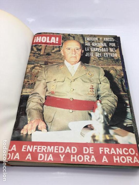 Coleccionismo de Revista Hola: FRANCO Y JUAN CARLOS I, ENCUADERNADO DE REVISTAS HOLA DESDE ENFERMEDAD DE FRANCO HASTA LA CORONACION - Foto 2 - 135162490