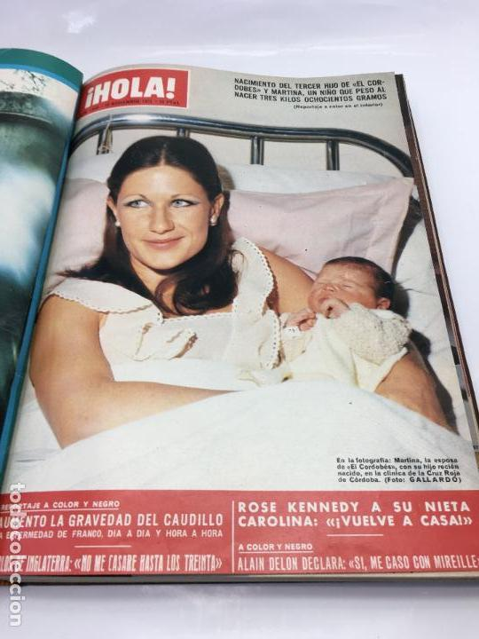 Coleccionismo de Revista Hola: FRANCO Y JUAN CARLOS I, ENCUADERNADO DE REVISTAS HOLA DESDE ENFERMEDAD DE FRANCO HASTA LA CORONACION - Foto 4 - 135162490