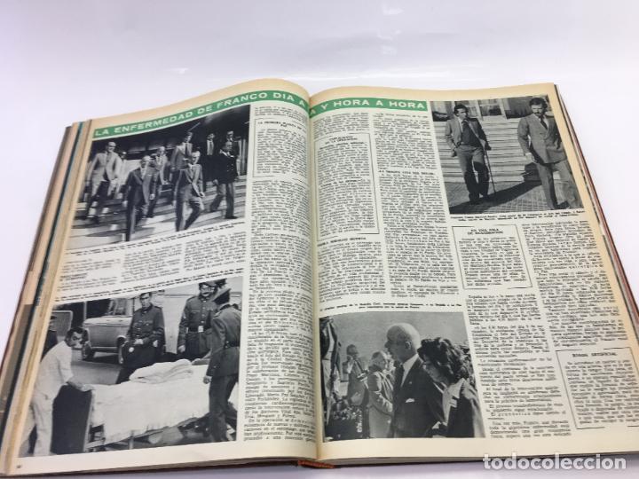 Coleccionismo de Revista Hola: FRANCO Y JUAN CARLOS I, ENCUADERNADO DE REVISTAS HOLA DESDE ENFERMEDAD DE FRANCO HASTA LA CORONACION - Foto 12 - 135162490