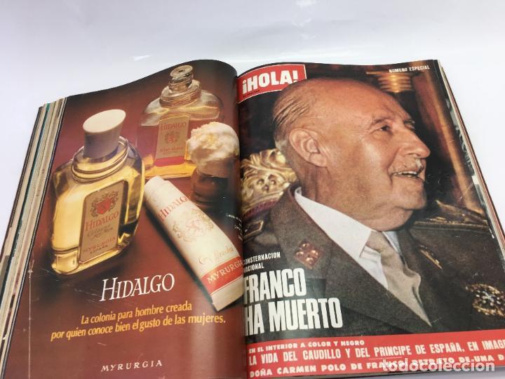 Coleccionismo de Revista Hola: FRANCO Y JUAN CARLOS I, ENCUADERNADO DE REVISTAS HOLA DESDE ENFERMEDAD DE FRANCO HASTA LA CORONACION - Foto 15 - 135162490
