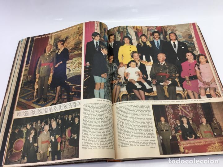 Coleccionismo de Revista Hola: FRANCO Y JUAN CARLOS I, ENCUADERNADO DE REVISTAS HOLA DESDE ENFERMEDAD DE FRANCO HASTA LA CORONACION - Foto 16 - 135162490