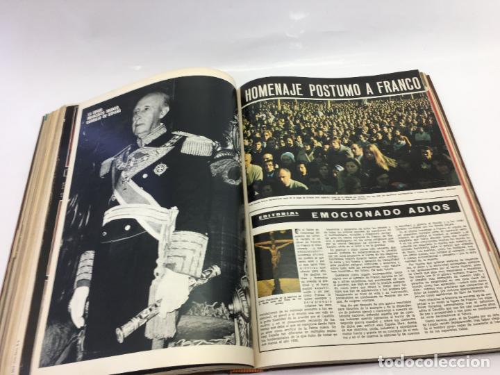 Coleccionismo de Revista Hola: FRANCO Y JUAN CARLOS I, ENCUADERNADO DE REVISTAS HOLA DESDE ENFERMEDAD DE FRANCO HASTA LA CORONACION - Foto 25 - 135162490