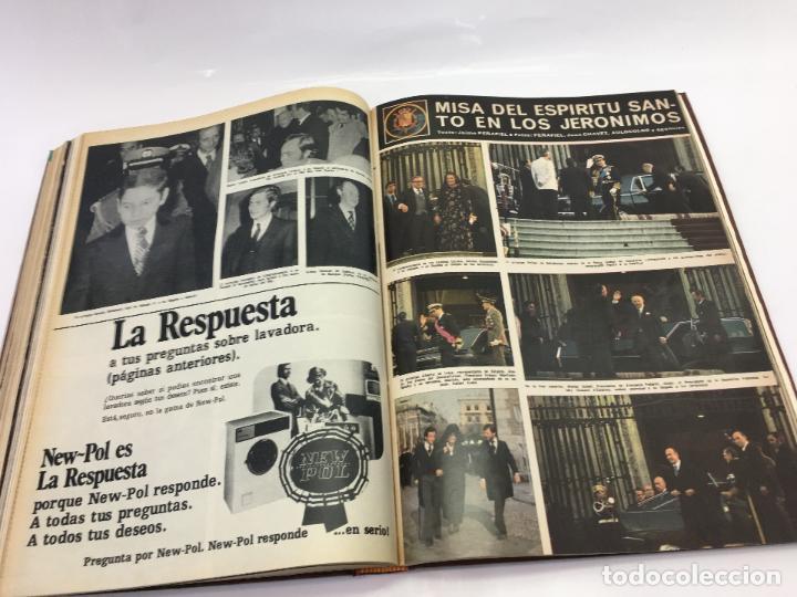 Coleccionismo de Revista Hola: FRANCO Y JUAN CARLOS I, ENCUADERNADO DE REVISTAS HOLA DESDE ENFERMEDAD DE FRANCO HASTA LA CORONACION - Foto 29 - 135162490