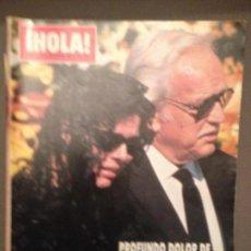 Coleccionismo de Revista Hola: HOLA 2410 (1990): CAROLINA DE MONACO FUNERAL MARIDO,SEAN CONNERY,ELTON JOHN,CAMILO SESTO,TOM CRUISE. Lote 136248766