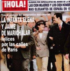 Coleccionismo de Revista Hola: ¡ HOLA ! - Nº 2.628 - 22 DICIEMBRE 1994. Lote 136393498
