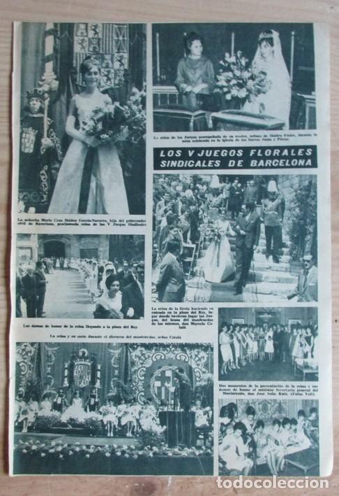 RECORTE HOLA Nº 977 1963 JUEGOS FLIORALES SINDICALES DE BARCELONA. MARIA CRUZ IBAÑEZ FREIRE segunda mano