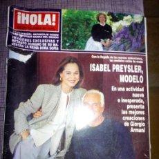 Coleccionismo de Revista Hola: REVISTA HOLA, OCTUBRE 1993. Lote 137194681